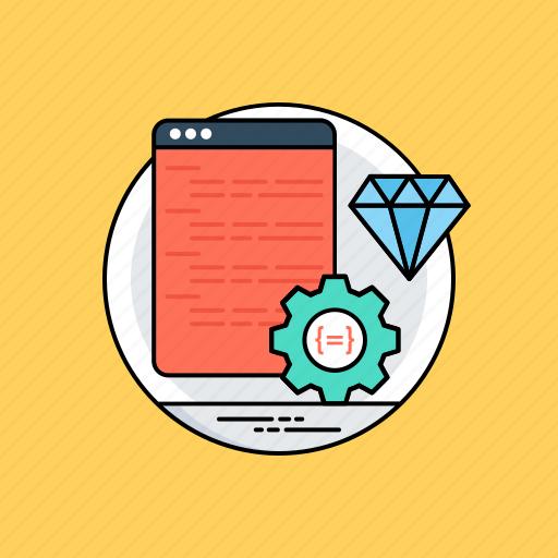clean code, program coding, software development, web development, web programming icon