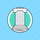 architecture, columns, greek architecture, greek pillar, ionic order icon
