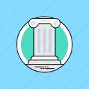 architecture, columns, greek architecture, greek pillar, ionic order icon