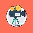 filmmaking, multimedia, video camera, video production, video recording icon