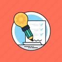 big idea, creative ideas, idea generation, ideas that work, project requirements icon