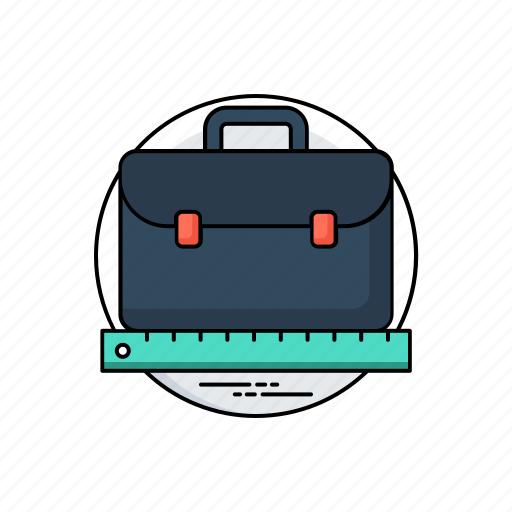 briefcase, business profile, handheld briefcase, personal information, portfolio icon