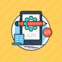 api integration, api interface, application programming interface, software application, software development process icon