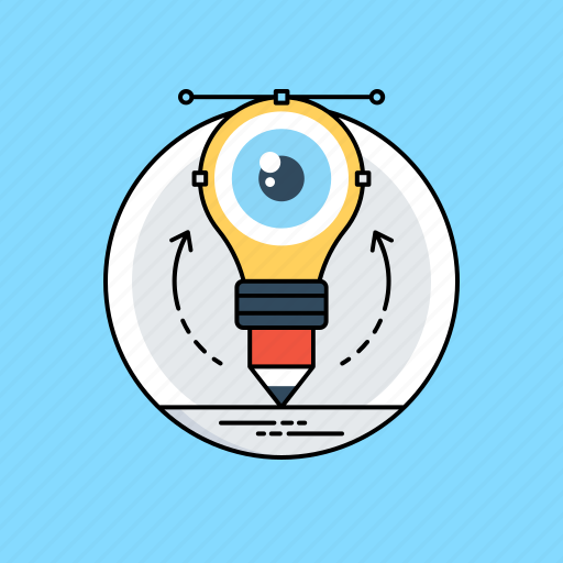 creative idea, idea visualization, innovation, inspirations, visual marketing icon