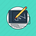 digital drawing tablet, digital graphics tablet, digital illustration, digitizer, drawing tablet icon
