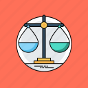 balance, justice concept, libra sign, measuring instrument, weight scale icon
