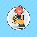 creative idea, creative process, innovative idea, light bulb, transforming ideas icon
