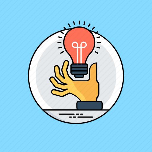 creative idea, creative process, innovative idea, light bulb, transforming ideas icon