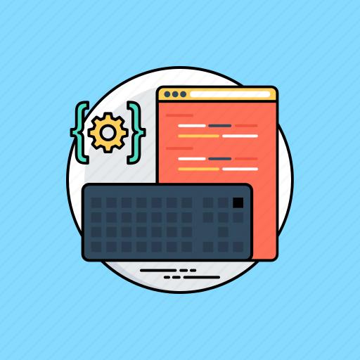 constructing data, html, php, web coding, web development icon
