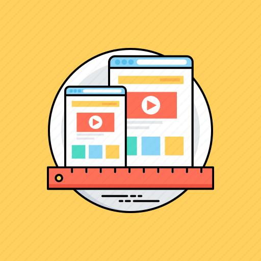 responsive design, rwd, user interface plasticity, web design, web development icon