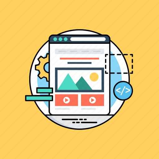 web design, web development, web page, website template, wireframe icon