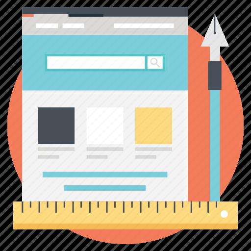 social media, software development, web design, web design and development, web development icon