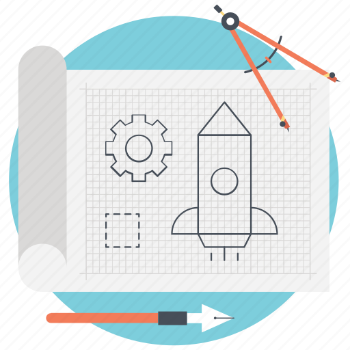 architecture work, blueprint, product design, prototyping, software prototyping icon