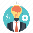 brain bulb, brainstorming, creative brain, creative mind, creative thinking icon