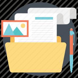 files folder, folder, information storage, portfolio, project folder icon