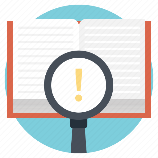 encyclopedia search book, information, know-how, knowledge icon