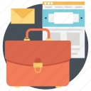 briefcase, business bag, documents bag, office bag, portfolio bag icon