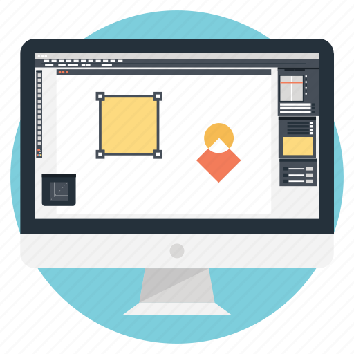 graphic designing, software development, web graphics, web layout, web template icon