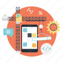 app development, app marketing, application development, software development, ui marketing icon