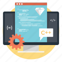 coding, program coding, programming, source code, web development icon