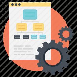 flowchart, information architecture, sitemap, web design, web development icon