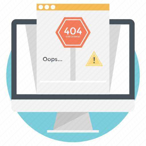 error page, http error, server error, site warning, web error icon