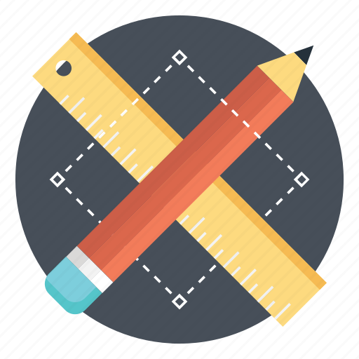 design tools, designing, drafting tools, graphic tools, stationery icon