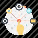 marketing plan, marketing strategy, project plan, seo planning, web development icon
