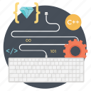 coding, computer programming, software code, software development, web coding icon