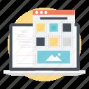 landing page, on-page seo, page speed optimization, seo process, web development icon