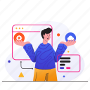 developer, development, code, programming, app, cloud, man
