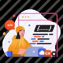 programming, coding, code, development, computer, laptop, woman