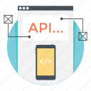 api interface, app design, app development, mobile api, mobile development icon