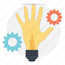 bright idea, creative idea, idea development, innovation, mind mapping icon