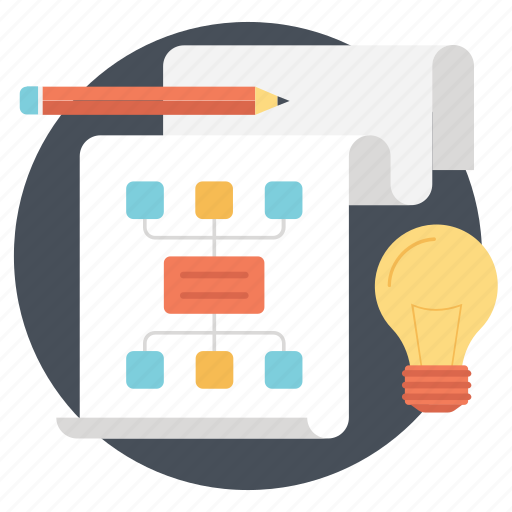 hierarchy, network sharing, project plan, sitemap, workflow icon