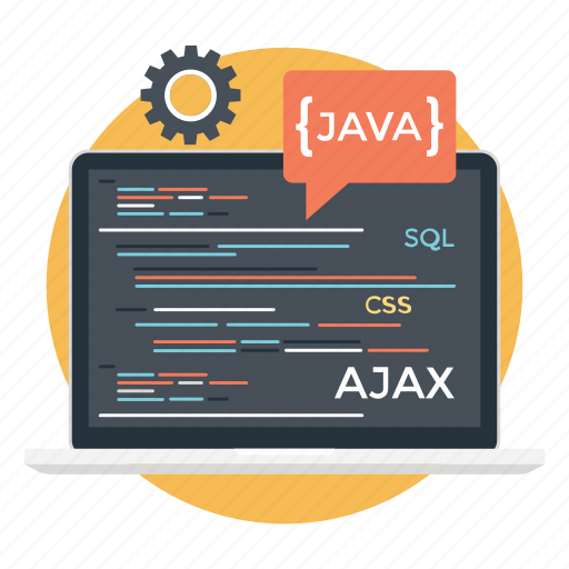 custom coding, programming language, software code, software development, web coding icon