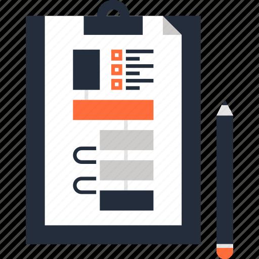 clipboard, diagram, flowchart, management, plan, scheme, workflow icon
