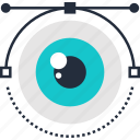 design, eye, illustration, review, search, view, vision icon