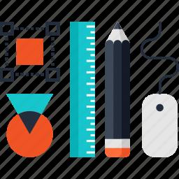 art, design, development, graphic, instrument, tools, work icon
