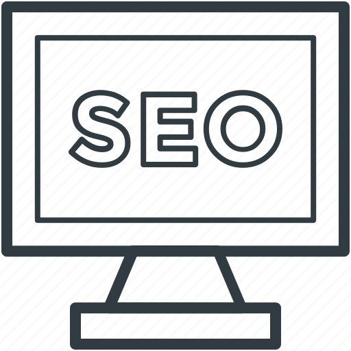 display, optimization, screen, search engine optimization, seo icon