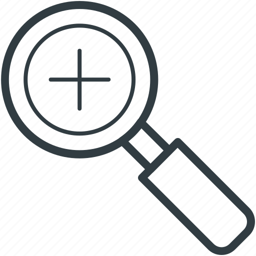 magnifier, magnifying, view, zoom, zoom out icon