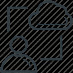 arrows, cloud computing, icloud, network, server icon