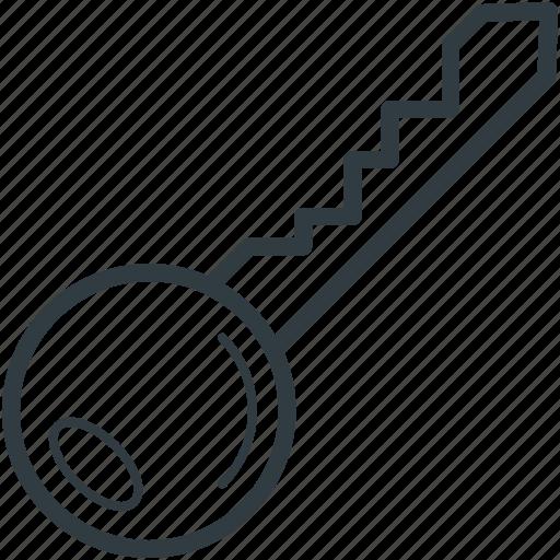 door key, key, lock key, protection, room key icon