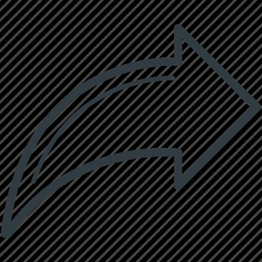 arrow, redo arrow, right, right arrow, right sign icon