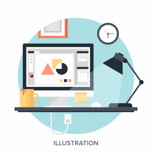 art, computer, design, development, freelance, graphic, studio icon