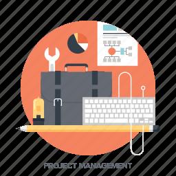 briefcase, design, development, job, management, portfolio, project icon
