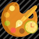 art, art progress, color palette, progress, work in progress icon