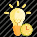 creative, creative process, idea, light bulb, process icon