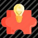 creative, puzzle, puzzle piece, solution icon