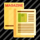 layout, magazine, magazine design, magazine layout icon